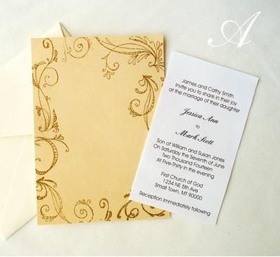 Свадебное приглашение-собираем своими руками