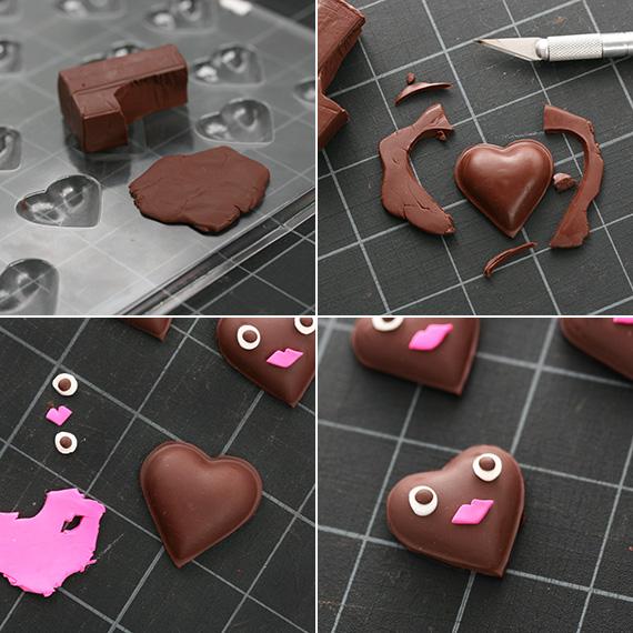 Сердце из полимерной глины-ход работы