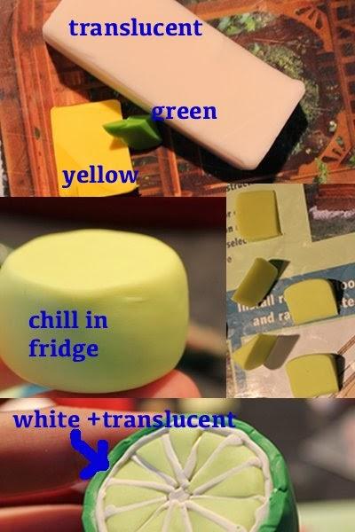 Тортики из полимерной глины-сделайте рость лимон