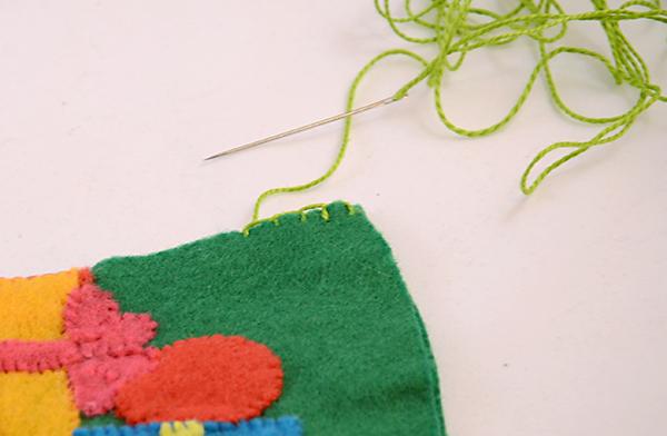 Носок из фетра-сшейте две детали носка