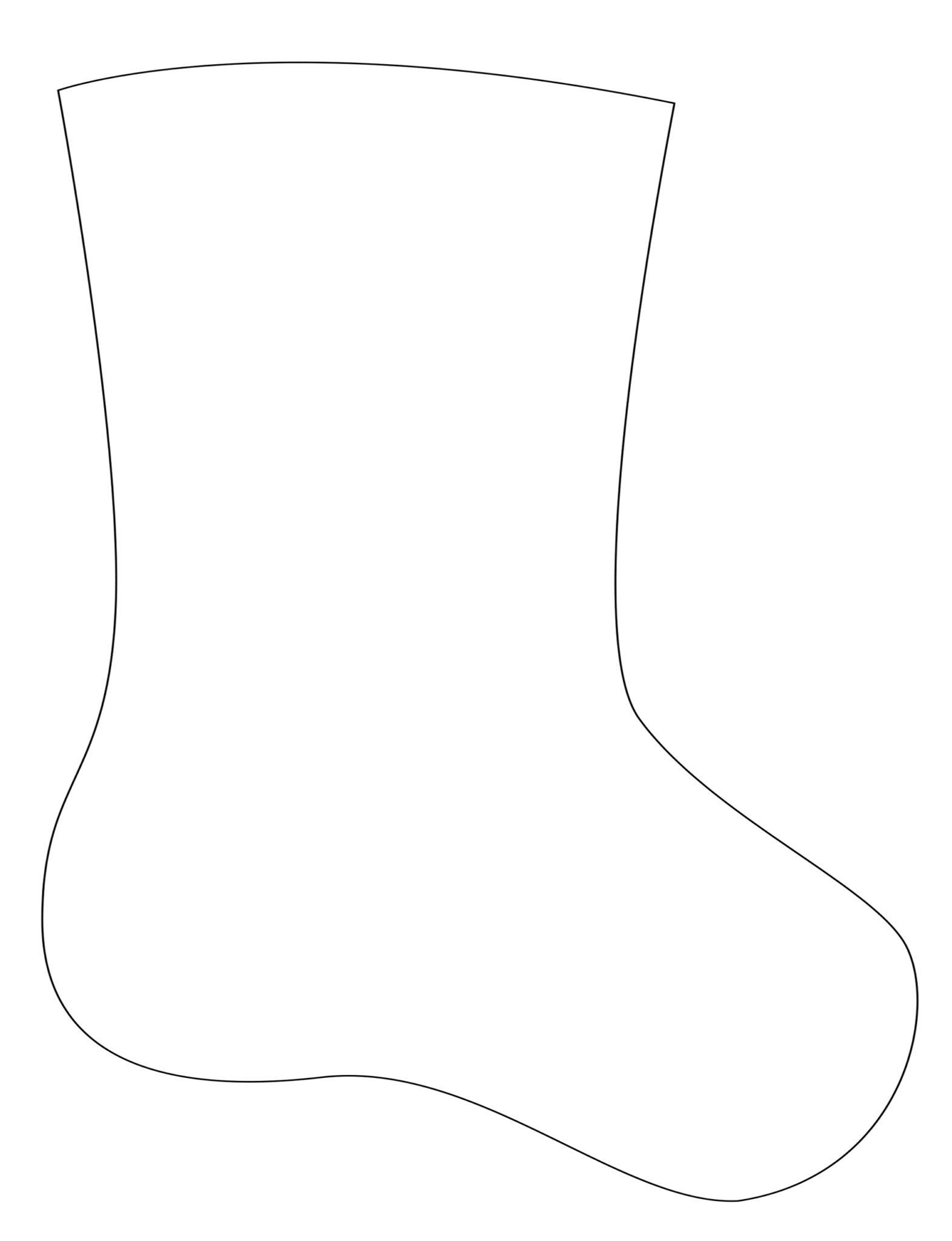 Носок из фетра-выкройка