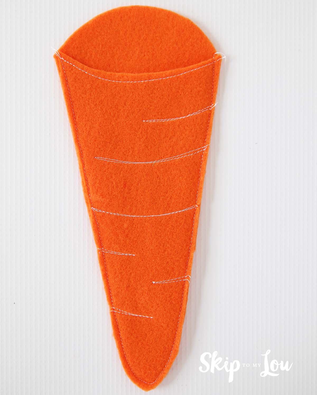 Пенал из фетра-сшейте оранжевые детали вместе