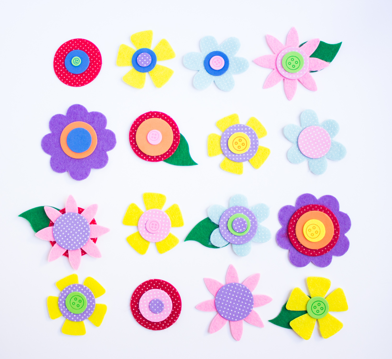 Венок из фетра-сформуйте цветы