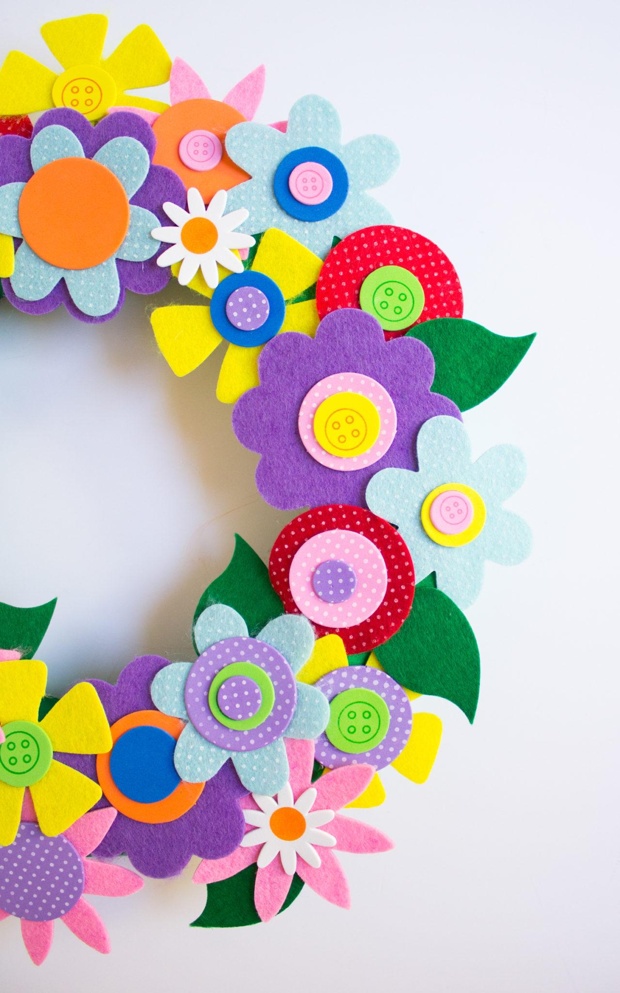 Венок из фетра-добавьте цветы из фоамирана