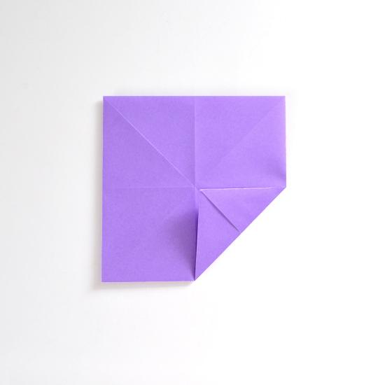 Абажур оригами-снова заверните углы