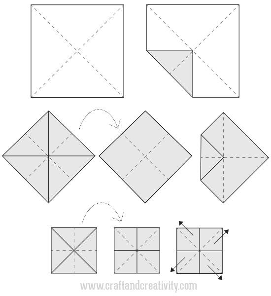 Абажур оригами-схема