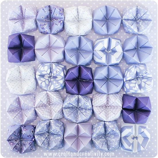 Абажур оригами-сделайте нужное количество гадалок