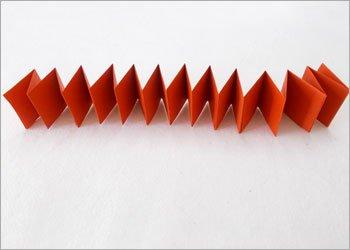 Блокнот оригами-скрепите клеем