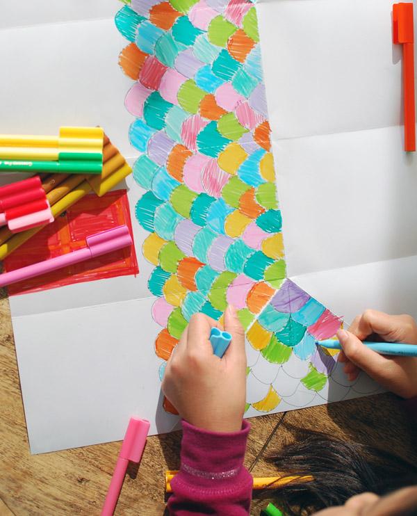 Домик оригами-нарисуйте крышу