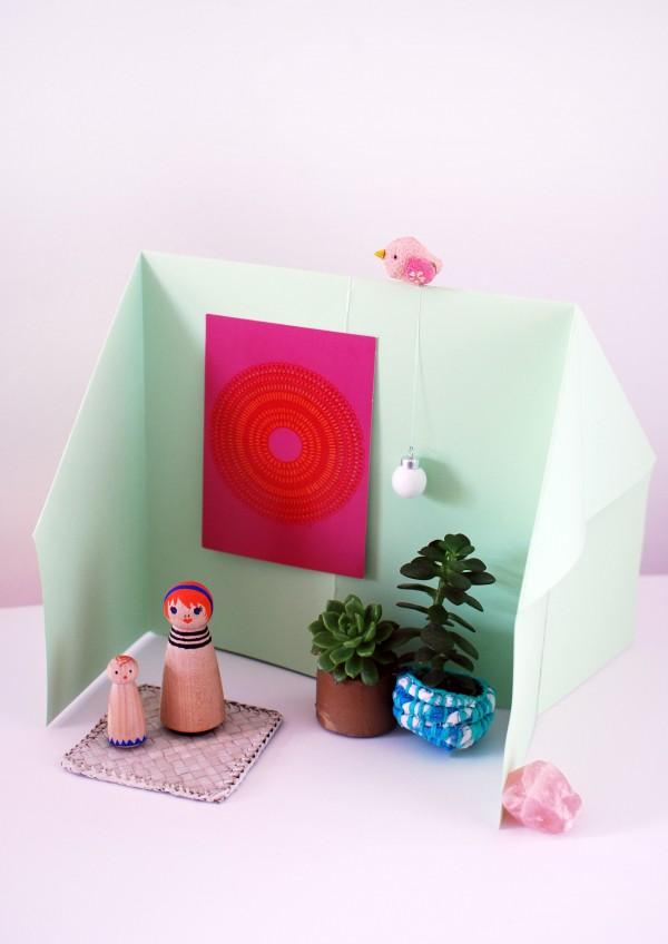 Домик оригами-вариант интерьера