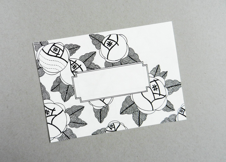Кролик, открытка печать на принтере