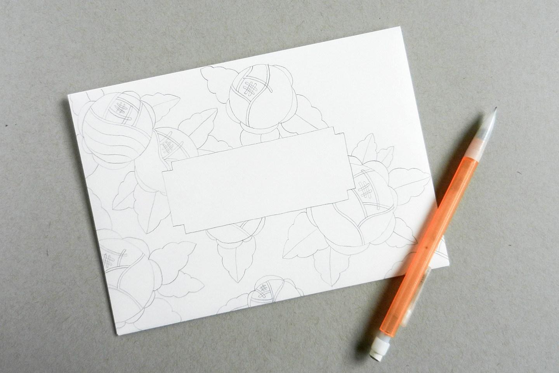 Красивый конверт из бумаги-перерисуйте шаблон