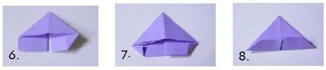 Модульная звезда оригами-сложите углы