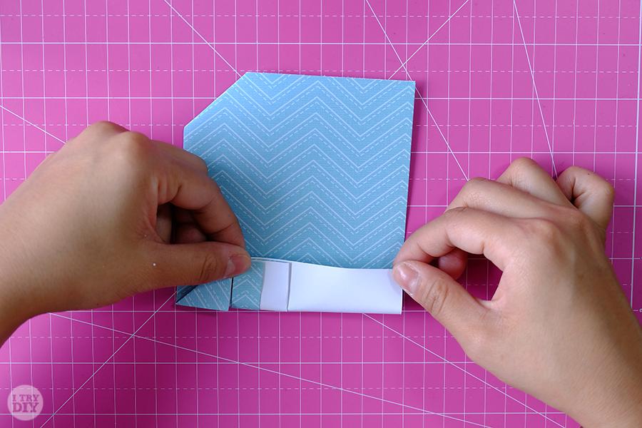 Оригами конверт для денег-сделайте боковые складки