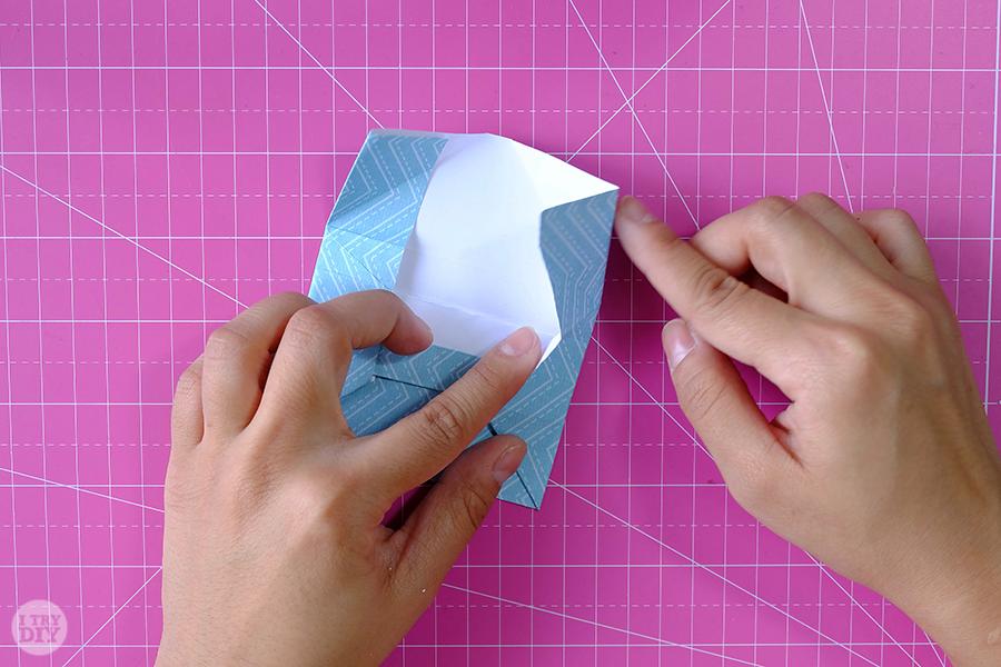 Оригами конверт для денег-раскройте складки