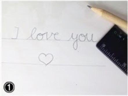 Открытка сердце-напишите надпись