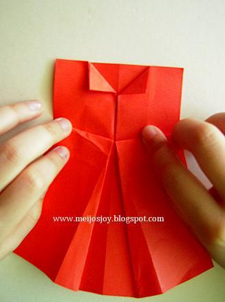 Платье оригами-загните воротнички