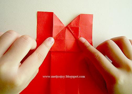 Платье оригами-сформируйте декольте