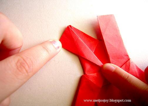 Платье оригами-сформуйте рукав