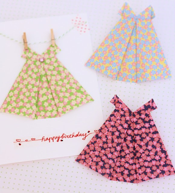 Платья оригами своими руками
