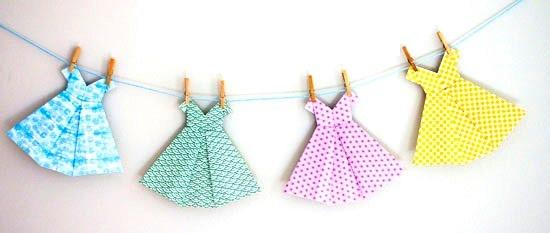 Платье оригами-гирлянда