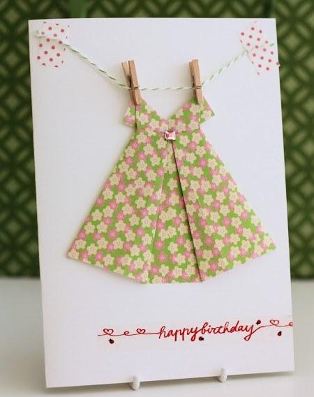 Платье оригами-открытка