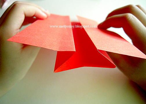 Платье оригами-сформируйте загибы