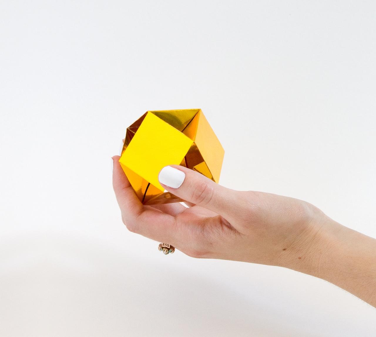 Оригами кристалл из модулей своими руками
