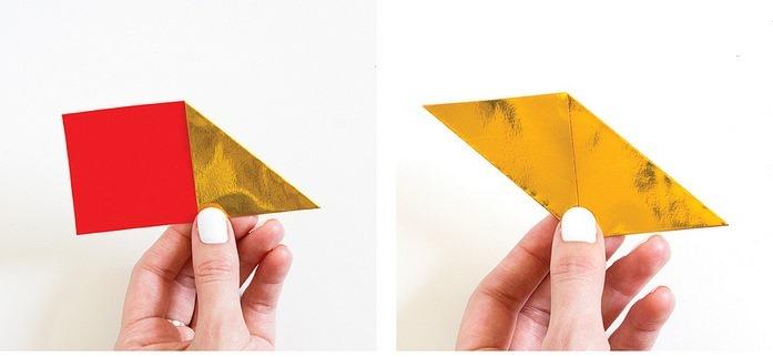 Оригами кристалл из модулей-сложите углы