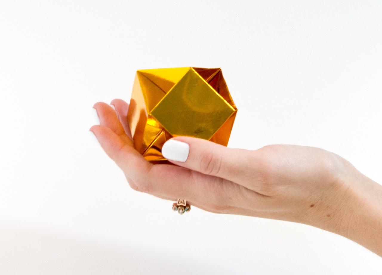 Оригами кристалл из модулей-финальная работа