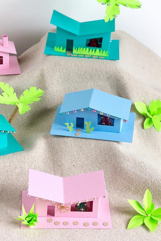 Домик из бумаги-композиция
