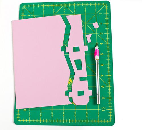 Домик из бумаги-вырежьте детали
