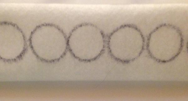 Гномики из фетра-нарисуйте кружки