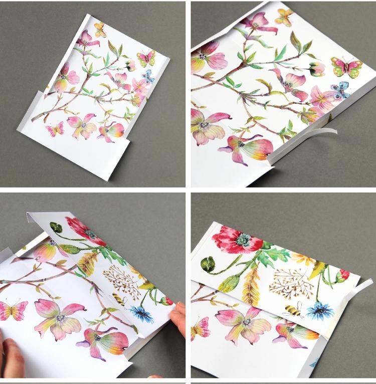 Кошелек из бумаги-склейте закрылки
