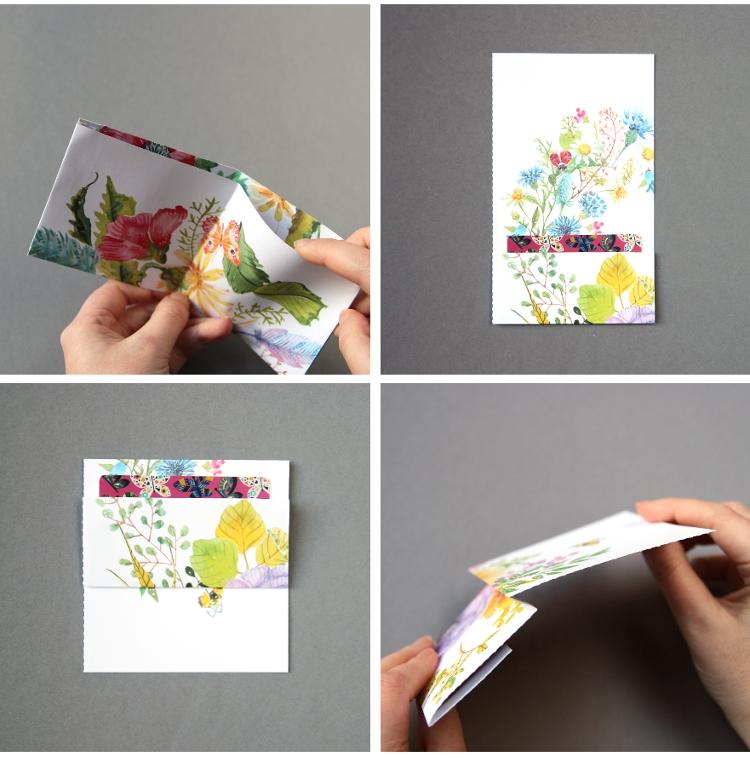 Кошелек из бумаги-сделайте держатель