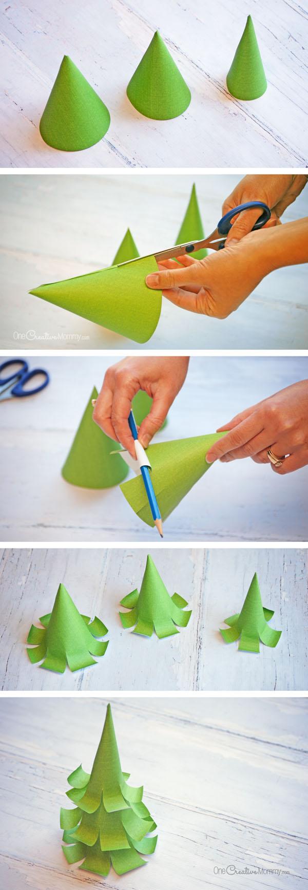 Бумажная елка-сделайте елочку