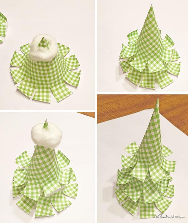Бумажная елка-как исправить работу
