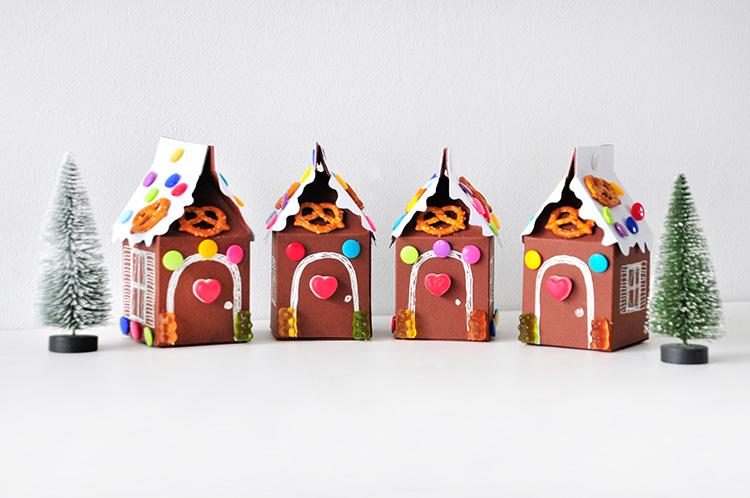 Коробочка для сладостей-4 домика