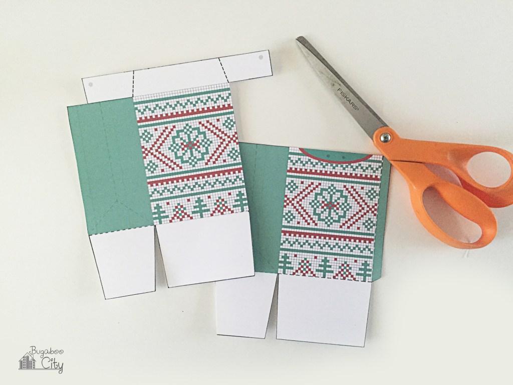 Новогодняя подарочная упаковка-вырежьте шаблоны