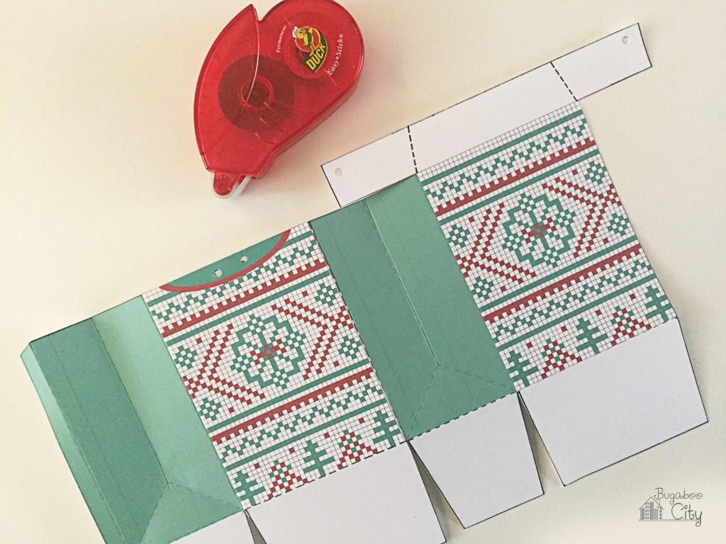 Новогодняя подарочная упаковка-склейте 2 части