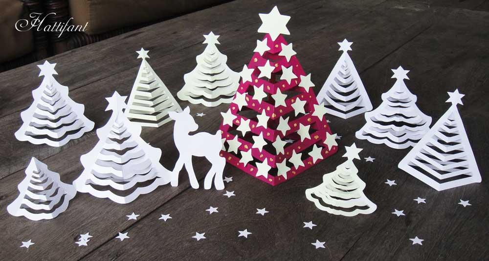 Объемная елка из бумаги-разные варианты