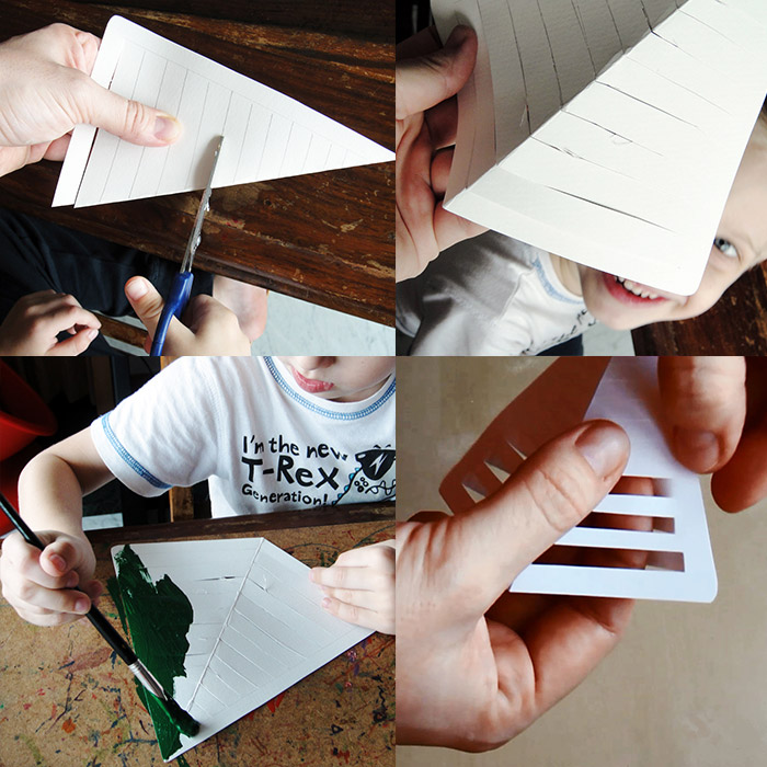 Объемная елка из бумаги-процесс изготовления