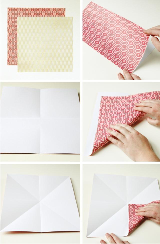 Оригами коробочка для подарка-сделайте складки