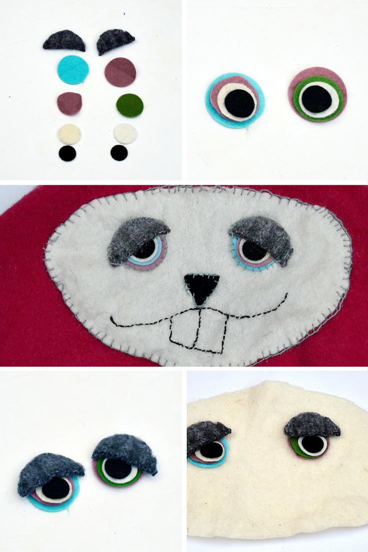 Подушка из старого свитера-сделайте лицо