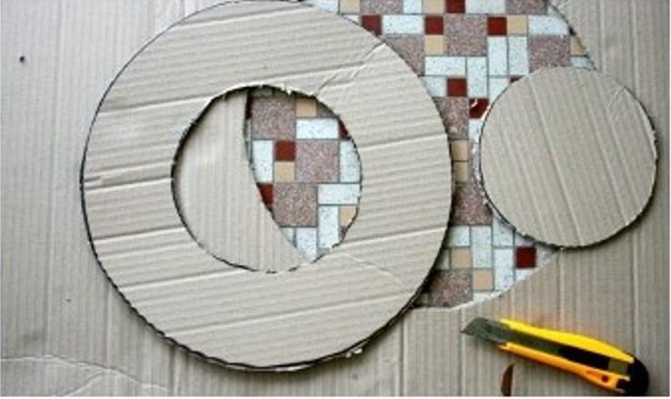 Венок из бумаги-вырежьте круг