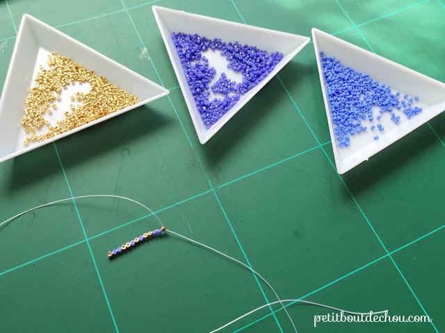 Красивые серьги из бисера-сделайте 1 ряд