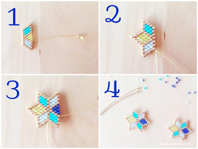 Комплекты из бисера-сплетите звезды