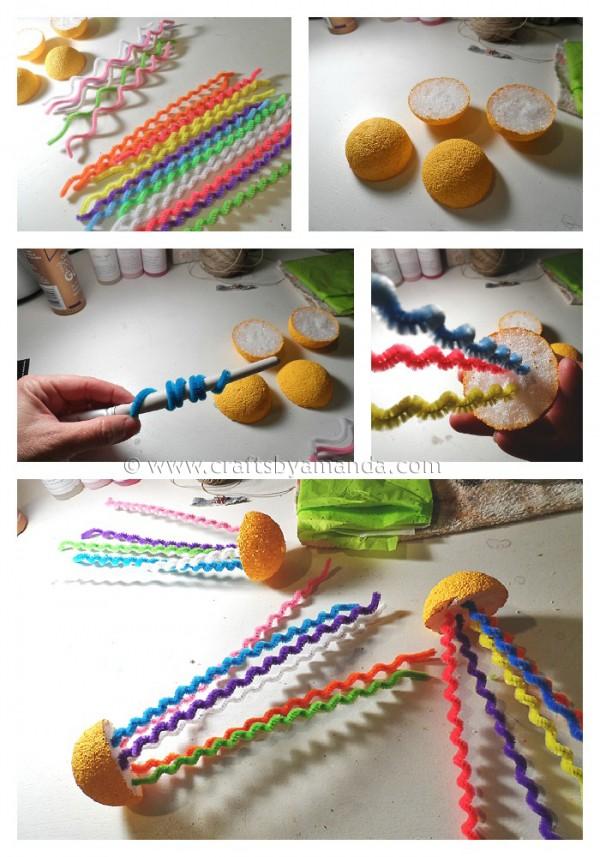 Медуза своими руками из проволоки-процесс изготовления