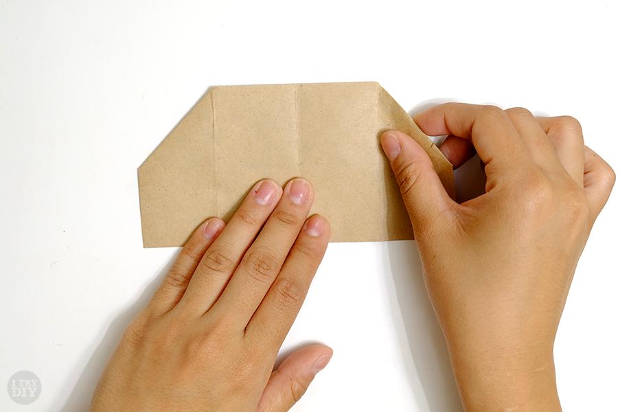 Оригами подставка для яиц-переверните бумагу