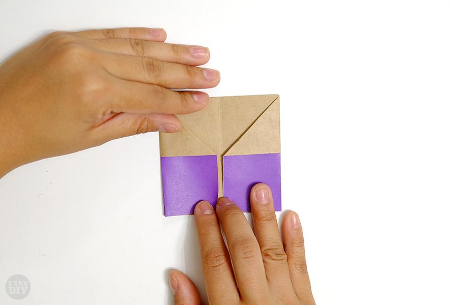 Оригами подставка для яиц-сложите левую закрылку